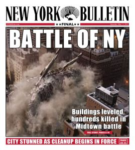 Newspapers report destruction in NY